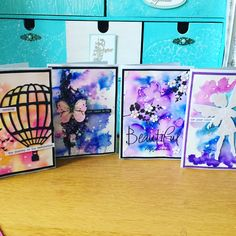 By Tarja Laurinen, watercolour Cards