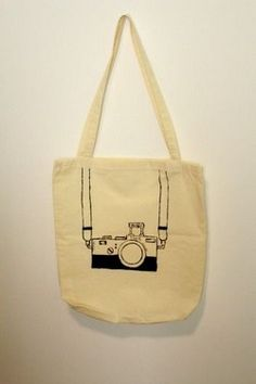 Handmade RAD Cream canvas handbag with black camera drawing! Camera Drawing, Canvas Handbags, Handmade Art, Reusable Tote Bags, Cream, Drawings, Vintage, Black, Fashion