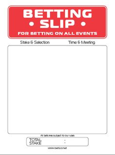 Betting tickets template