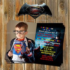 Batman vs Superman-Superhero by MyPrintableParty on Etsy