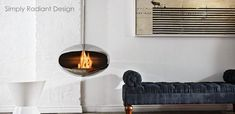 The Ventless Fireplace: A Cool Idea Worth Warming Up To – Freestanding fireplace wood burning Floating Fireplace, Hanging Fireplace, Freestanding Fireplace, Modern Fireplace, Fireplace Design, Gas Fireplace, Biofuel Fireplace, Suspended Fireplace, Minimalist Fireplace