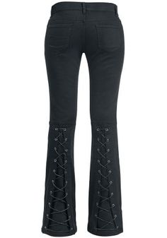 Strapped Bootcut Pants - Gothicana by EMP Stoffhose