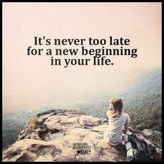 Het is nooit te laat voor verandering!