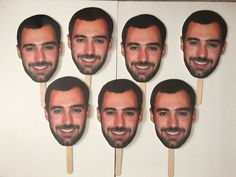 Bridal Shower Photo Prop  Groom Picture on Stick  by PicsOnSticks