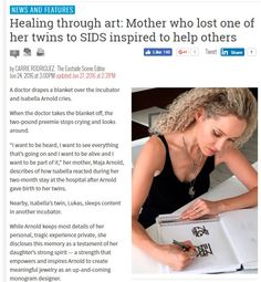 Healing through art: Mother who lost one of her twins to SIDS inspired to help others.  maja arnold modern jewelry jewlery necklace meaningful jewelry gift meaningful gift  bringing letters to life letters to life letters custom initials  custom unique gift ideas  love  perfect gift  family valentines valentines day valentines day gift vday monogram gift ideas for her  memories initials  sentimental sentimental jewelry sterling silver