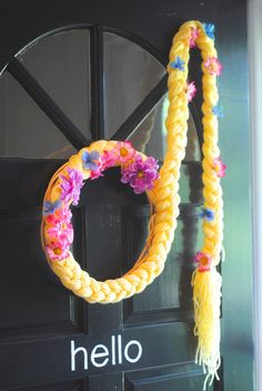 Rapunzel Turns Five! {Tangled Birthday Party Ideas} love this wreath
