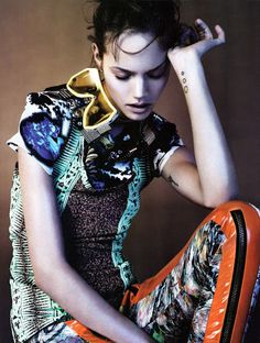 COUTE QUE COUTE: VOGUE UK MARCH 2010 / CYBER TRIBE SHOT BY JOSH OLINS FEAT. FREJA BEHA ERICHSEN