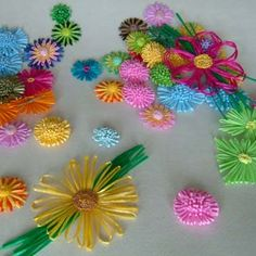 Rayon Raffia Flowers (Районные Raffia цветов)