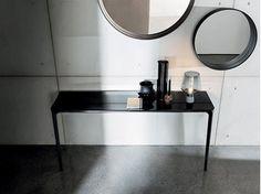 Mesa consola rectangular de vidrio SLIM 2 LEGS - SOVET ITALIA