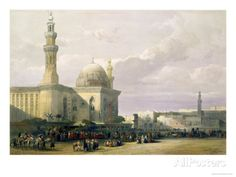 """Mosque of the Sultan Hasan from the Great Square of Rumeyleh, Cairo, from """"Egypt and Nubia,"""" Vol.3 Giclee Print by David Roberts at AllPoste..."""