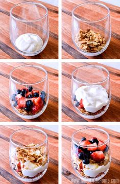 Recipes Breakfast Wake up to a delicious Yogurt . Recipes Breakfast Wake up to a delicious Yogurt Parfait! Make a healthy Yogurt Parfait at home with this easy recipe. This breakfast Yogurt Parfait is made with simple ingredients: Greek yogurt, fre Easy Healthy Recipes, Healthy Snacks, Dessert Healthy, Healthy Drinks, Nutrition Drinks, Healthy Brunch, Protein Snacks, Healthy Breakfasts, Healthy Breakfast Recipes