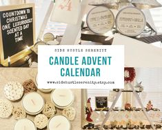 25 Day Candle Advent Calendar | Christmas Countdown | Candle Lover Gift