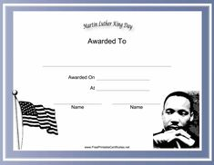 and a picture of Martin Luther King Jr. decorate this free, printable ...