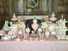 Wedding Vintage Candy Bar Buffet Ideas For 2019 Wedding Candy Table, Sweet Table Wedding, Wedding Sweets, Wedding Decorations, Buffet Wedding, Sweet Tables, Wedding Ideas, Wedding Poses, Wedding Themes