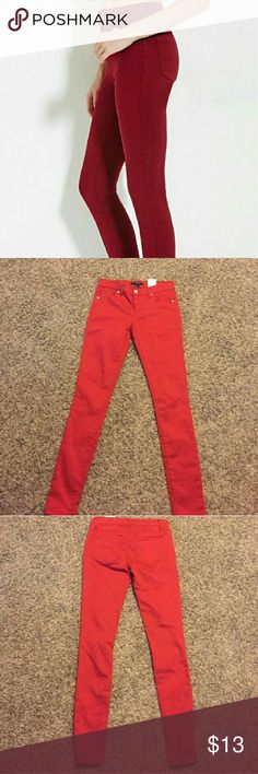 Forever 21 Red Skinny Jeans Forever 21 Red Skinny Jeans  Wore once, love them but too small for me now  No rips or stains they look new! Somewhat stretchy material and very cute/comfortable Forever 21 Jeans Skinny