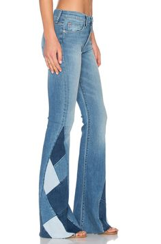 Hudson Jeans Laurel Patchwork Flare in Radio Silence Diy Jeans, Jean Flare, Hudson Jeans, Jean Diy, Classic Outfits, Classic Clothes, Mode Jeans, Patchwork Jeans, Jean Outfits