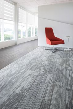 Media Room: Hustle and Bustle Tile, Lees Commercial Modular Carpet | Mohawk Group