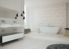 Top tile trends for 2015 and beyond from Beaumont - The Interiors Addict Taupe Bathroom, Minimal Bathroom, Budget Bathroom, Bathroom Renovations, Bathrooms, Bathroom Ideas, Timber Tiles, Tile Warehouse, Beaumont Tiles