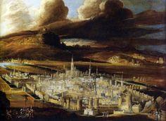 Monsù Desiderio, Vue de Metz et descente de croix (c.1620)