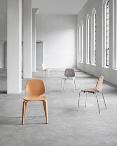 With its minimalistic silhouette, My Chair is ideal for spaces that need a large number of seats as the design can be multiplied without taking over the interior. Nordic Interior, Interior Design, My Collection, Interior Inspiration, Furniture Design, Dining Chairs, Copenhagen, Armchairs, Sofas