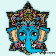 Ganesha Tattoo Lotus, Lotus Tattoo, Tattoo Ink, Baby Elephant Tattoo, Elephant Art, Krishna Painting, Krishna Art, Arte Ganesha, Hamsa
