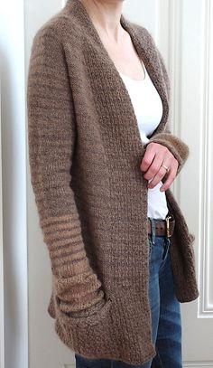 BeauB Cardigan by La Maison Rililie: FO by Iscula on ravelry. #knitting #pattern #knitindie