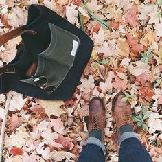 That autumn  making a perfectly worn in Forestbound bag look extra good!  by @seafoam