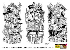 3 STACKING BUILDING concepts by STUDIOBLINKTWICE.deviantart.com on @DeviantArt