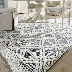 You'll love this Cotway Geometric Performance Rug at Ballard Designs! Shop now for new area rugs & floor decor products online. Discount Wood Flooring, Cheap Wood Flooring, Flooring Cost, Flooring Options, Flooring Ideas, Tile Effect Laminate Flooring, Vinyl Flooring, Linoleum Flooring, Bathroom Flooring