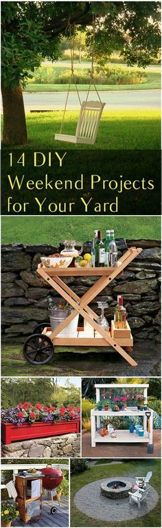 Beautiful outdoor patio ideas! I would love to transform our outdoor space this summer with one of these 14 DIY Weekend Projects for Your Yard