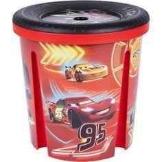 Stabile Spielzeugtonne im Disney Cars Design | Damit ist das Kinderzimmer ruck-zuck aufgeräumt.