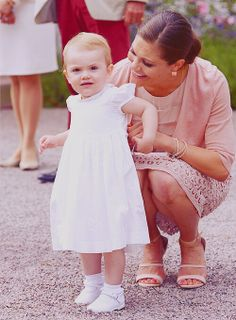 Princess Victoria with her daughter Estelle