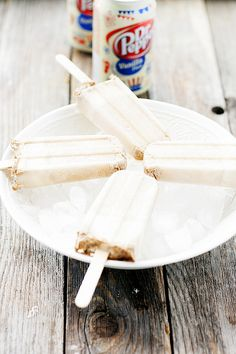 dr pepper vanilla float popsicles
