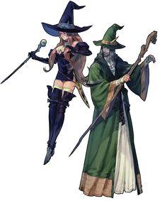 """Witch / Wizard Class - Tactics Ogre"". Concept art de  Lanselot Tartaros. #Ilustracion"