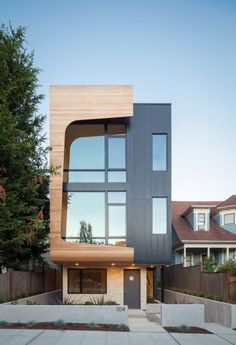 Cotery Townhouse Contemporary Facade Design | HOME | Pinterest ...