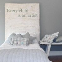 every child is an artist headboard | ruevintage74.com