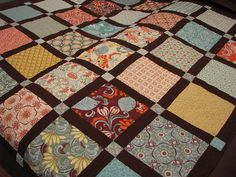 Layer cake with lattice (and no, I'm not talking about desserts!). Simple, but with good color choice can make a dramatic quilt.