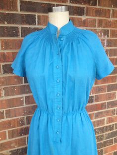 Teal Smocked Rockabilly Dress