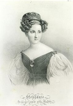 ca. 1830 Grand-Duchess Stephanie of Baden by Sabine Baring-Gould after ?