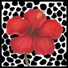 hibiscus-on-cheetah-bw
