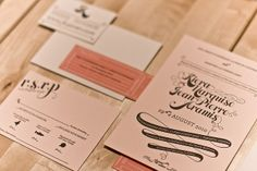Letterpress wedding invitation suite - check out the process on their flickr page!