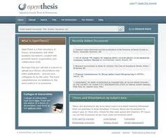 Upload and Search Theses and Dissertations Thesis, Search, Searching