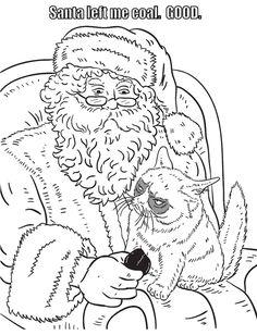 Grumpy Cat Coloring Book: Dover Publications Samples