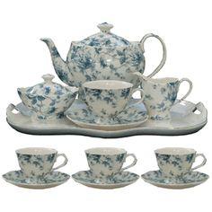 Blue Toile Porcelain Tea Set -  Product #: TS-33513-cl  Our Price: $146.97