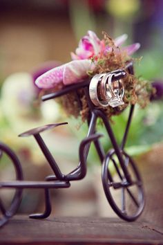 Old, Old Bicycle Dressed Up Perfect<3