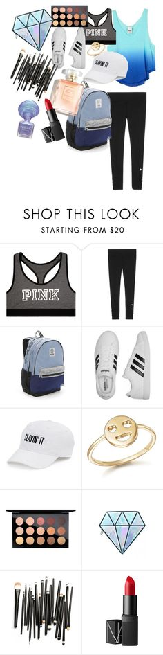 """Mermaid blue"" by fashionista-lucky ❤ liked on Polyvore featuring Victoria's Secret, adidas, SO, Bing Bang, MAC Cosmetics, Unicorn Lashes and NARS Cosmetics"