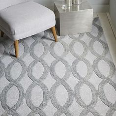 Possibly in the master bedroom Linking Loops Wool Rug – Frost Gray #westelm