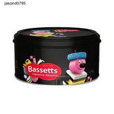Liquorice Allsorts Cadburys Bassetts Tin 800g  (Pack of 2) kids Sweets Treats