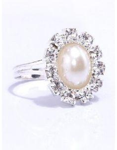 Indressme | Gorgeous Imitation Pearls Wedding Bridal Ring @mmr158 style 00-06139 only $6.11 .#indressme #fitnessfashionfreebies