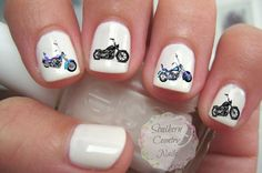 Motorcycle Nail Art Decals by SouthernCountryNails on Etsy